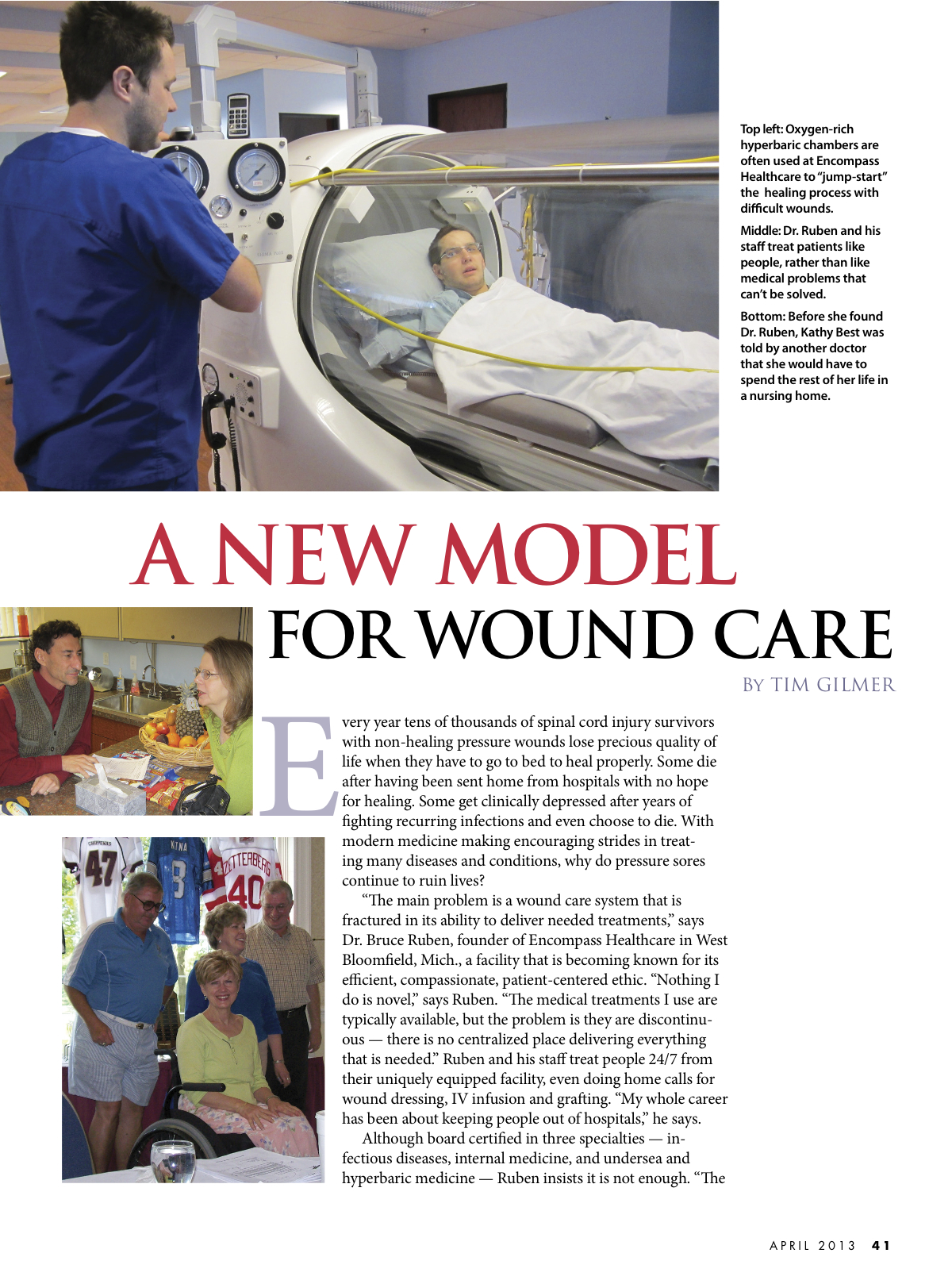 A New Model For Wound Care New Mobility Magazine Dr