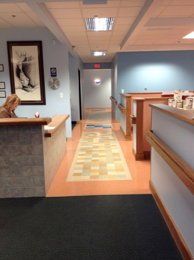 Encompass HealthCare was designed with barrier-free 5-ft.-wide hallways and 48-in. tall walls