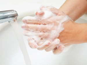 Hand washing is one step in preventing healthcare-acquired infections, Encompass HealthCare & Wound Medicine, West Bloomfield, Michigan.
