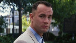Barrier-free facilities are necessary for the disabled Lt. Dan in Forrest Gump.
