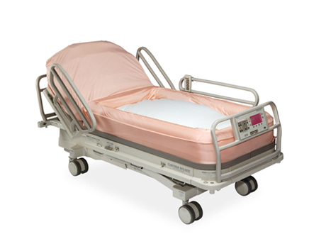 A specialized bed minimizes pressure and allows for offloading in patients who have bed sores or pressure ulcers, Encompass HealthCare & Wound Medicine, West Bloomfield, Michigan.