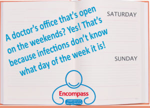 Encompass HealthCare & Wound Medicine is open on the weekends, West Bloomfield, Michigan