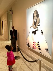 Parker Curry admiring leadership & Michelle Obama, www.encompasshealthcare.com, west bloomfield, Michigan